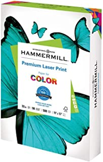 product image for Hammermill Printer Paper, Premium Laser Print 32 lb, 11 x 17-1 Ream (500 Sheets) - 98 Bright, Made in the USA