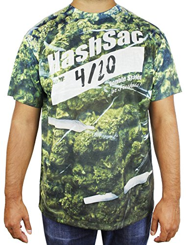 Weed Halloween Costumes (Marijuana Weed Pot T-Shirt For Men - Size Large)