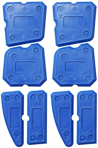 Blue Color Scissor 8 Pieces Caulking Tool Kit Sealant Finishing Tools for Bathroom Kitchen and Floor Sealing