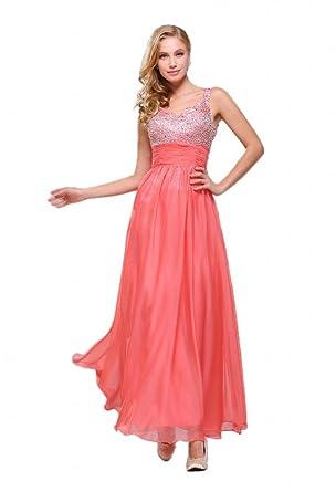 Efashion Womens Evening Dress Size 4 Color Peach