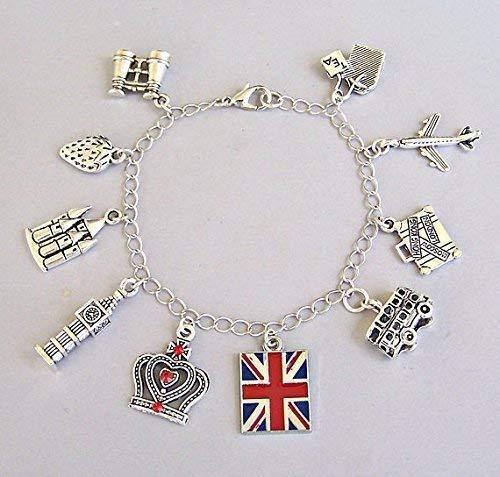 London Charm Bracelet, Travel Gift to England