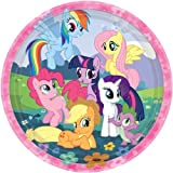 """Charming My Little Pony Friendship Birthday Party Dinner Paper Plates Disposable Tableware (8 Pack), Multi Color, 9"""". offers"""