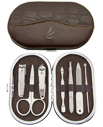 Manicure set Stainless Steel Small Oval Manicure Set Travel Manicure Kit