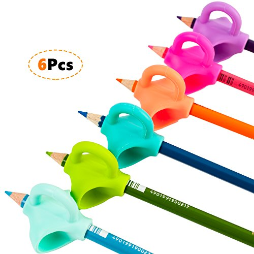 - Youly Pencil Grips Innovative Ergonomic Pen Writing Aid Grip Trainer Posture Correction Finger Grip for Kids Preschoolers Special Needs 6 pack