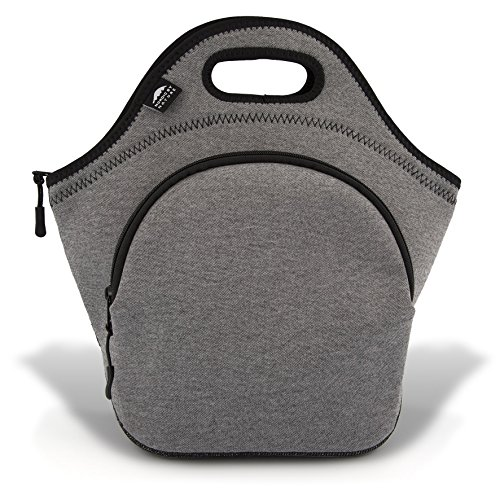 Insulated Large Neoprene Lunch Bag For Women, Men & Kids | Pocket | 5mm Insulation | 13.5"