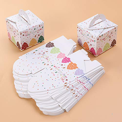 Boîte De En Bonbons Biscuits Noël Fête Cadeau 24pcs Toyandona wz65qtBq