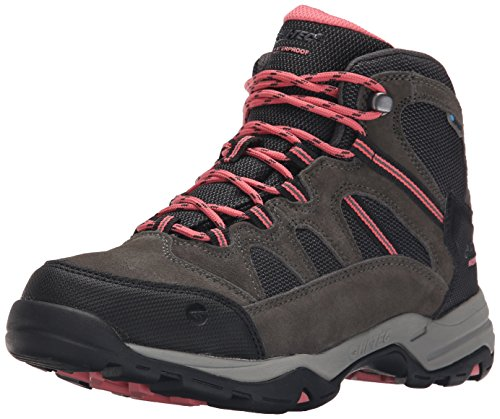 Hi-Tec Women's Bandera Mid II Waterproof Hiking Boot, Charcoal/Graphite/Blossom, 7 M US
