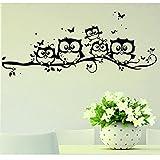 Wall Stickers ,Naladoo Kids Vinyl Art Cartoon Owl Butterfly Wall Sticker Decor Home Decal 55X25cm