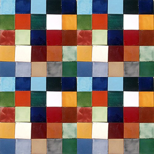 100 SOLID COLORS TILES MEXICAN CERAMIC ASSORTED 4X4 TILE