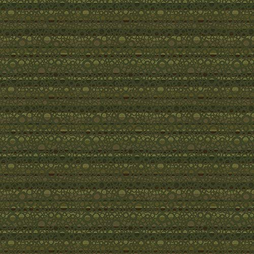 - Forest Green Circles Horizontal Prints Small Scale Stripes Crypton Crypton Green Jacquards Woven Upholstery Fabric by the yard