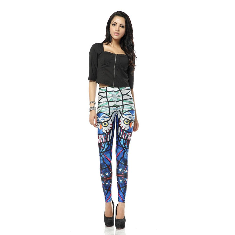 Yoga Pants Leggings Glass Parrot Printed Graphic Leggings Sexy 2016 Hot Style Butt Lift High Waist by Yoglovers