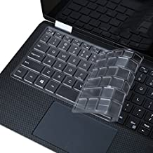 JRC Ultra Thin Clear Keyboard Cover Skin for 2018 Newest Model Dell XPS 13 9370 and 2017 Released 9365 13.3-Inch 2 in 1 Ultrabook Computer, Us Version (DO NOT Fit Other Models)