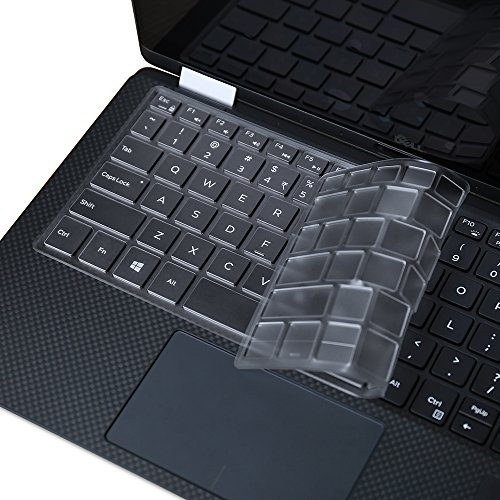 Ultra Thin Clear Keyboard Cover Skin for 2019 Released Model Dell XPS 13 9380, Dell XPS 9370 and 9365 13-Inch 2 in 1 Ultrabook Computer(2018/2017 Released), Us Version (DO NOT Fit Other Models)