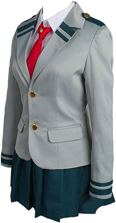 Jeylu Boku no My Hero Academia Tsuyu uniforme scolastica Cosplay Costume