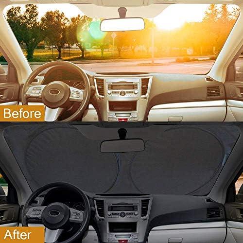 Parasole Parasole per Auto Grande o Piccolo Misura Flessibile per SUV Camion Protezione dai Raggi UV Colore: Argento Auto Lambony Parasole per parabrezza 150 x 70 cm
