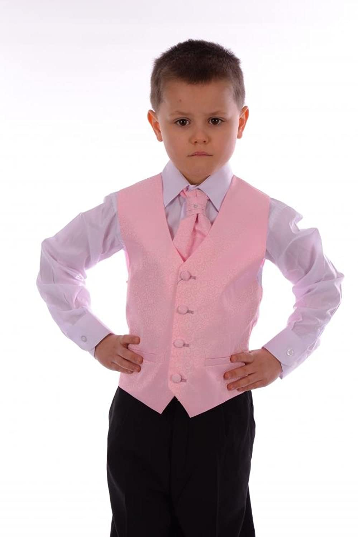 Los chicos niños palo rosa palo Swirl boda formal de Bautizo 4 ...