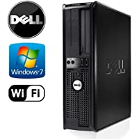 Office Tower: Dell Optiplex 780 Desktop - Intel Core 2 Quad 2.4GHz, 4GB RAM DDR3- NEW 1TB HDD, Microsoft Windows 7 Pro 32-Bit, WiFi, DVD-ROM (Prepared by ReCircuit)