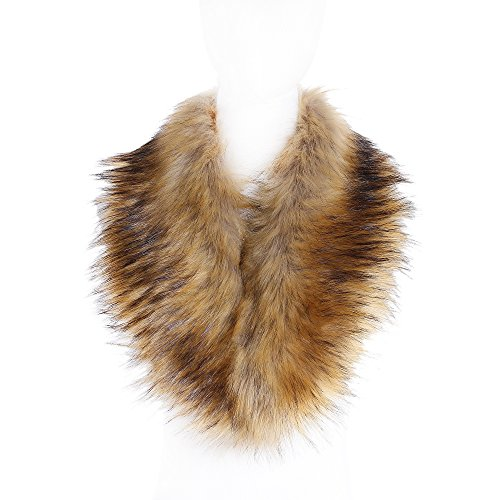 Soul Young Faux Fur Collar Women's Neck Warmer Scarf Wrap,Nature,One Size ()
