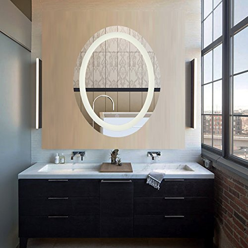 CO-Z-Dimmable-Oval-LED-Lighted-Bathroom-Mirror-Modern-Wall-Mirror-with-Dimmer-and-Lights-Wall-Mounted-Fogless-Makeup-Vanity-Mirror-Over-Cosmetic-Bathroom-Sink