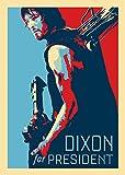 """""""Dixon for President"""" Zombie TV Show Parody - Rectangle Refrigerator Magnet"""