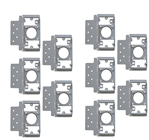 (ZVac 10 Pack Central Vacuum Cleaner Inlet Install Mounting Bracket/Central Vacuum Wall Plate Backing Compatible for All Central Vacuum Systems)