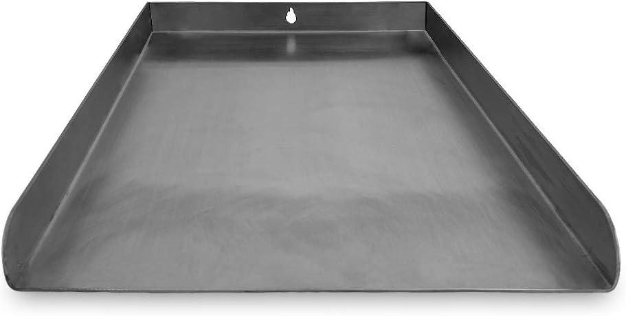 Grillplatte Edelstahl universal 40 x 30 cm Plancha
