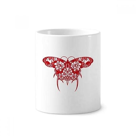 Portavasos de cerámica para cepillos de dientes, diseño de cometa china tradicional, 350 ml