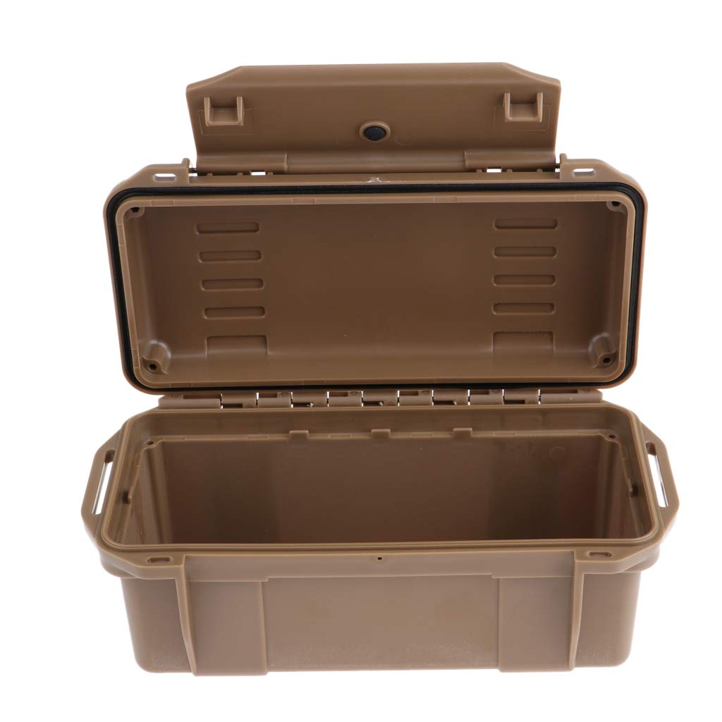 D DOLITY Outdoor Shockproof Box Waterproof Hard Case Airtight Survival Storage Container Carry Box for Fishing Backpacking - Black