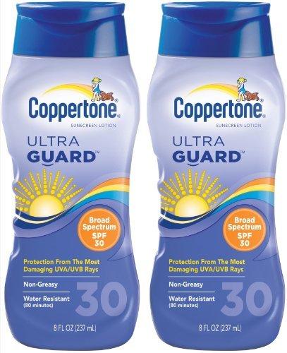 (Coppertone ultraGUARD Lotion SPF 30 Sunscreen-8 oz, 2 pack by Coppertone)