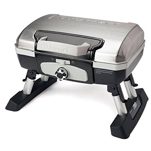 Cuisinart CGG-180TS Petit Gourmet Portable Tabletop Gas Grill, Stainless Steel (Renewed)
