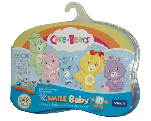 VTech V.Smile Baby Infant Development System Smartridge - Care Bears that Teaches Feelings, Letters, Singing and Baby Sign Language