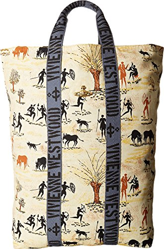 Vivienne Westwood Unisex Africa Painted Fold-Over Sack Painted One Size by Vivienne Westwood