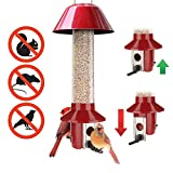 Roamwild PestOff Red Squirrel Proof Cardinal Bird Feeder Mixed Seed Sunflower Heart Version