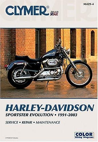 harley davidson sportster evolution 1991 2003 clymer motorcycle rh amazon com 1997 Harley Sportster 883 Drivetrain Repair Diagram 1991 harley sportster 883 service manual