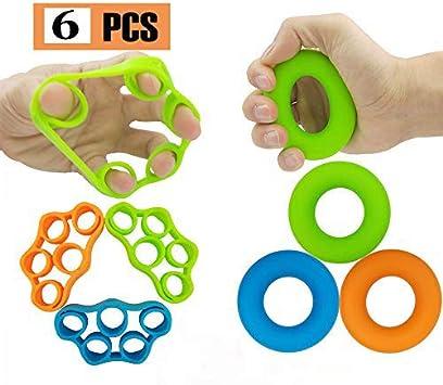 DJYD Grip Strength Enhancer, Finger Trainer, Grip Strength Trainer (6 nuevos Materiales, Camilla para Dedos, túnel carpiano, Ideal para Escalar