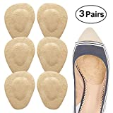 Beautulip Metatarsal Pad Ball of Foot Cushion Adhesive Forefoot Pad Massage Shoe Insert - Absorb Sweat Comfortable Insole for Heels Pack of 6