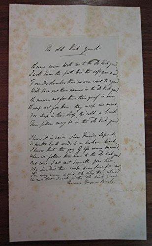 Autograph Manuscript Signed