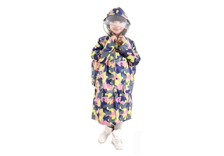 Feicuan Enfant Imperméable à Capuche with Schoolbag Bit Ponchos de Pluie  Camouflage c2b3afe14f3