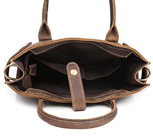 Bolsos Pecho Resistentes Bolsos de Hombre Bolso 32x31x9CM Cuero 1 Piel Autentico Pequeña de Sucastle Mochila Bandolera Bolsa Hombro y x78nHaXX
