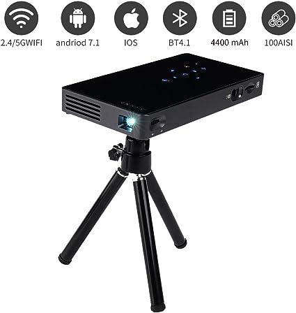 Prechen Mini proyector portátil, 1080P HD DLP WiFi Smart Pocket ...