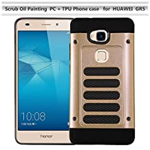 Huawei GR5 Case,Impact Resistant Protective Shell Huawei GR5 Cover Shockproof Rubber Bumper Case Anti-scratches Hard Cover for Huawei GR5 (Gold)