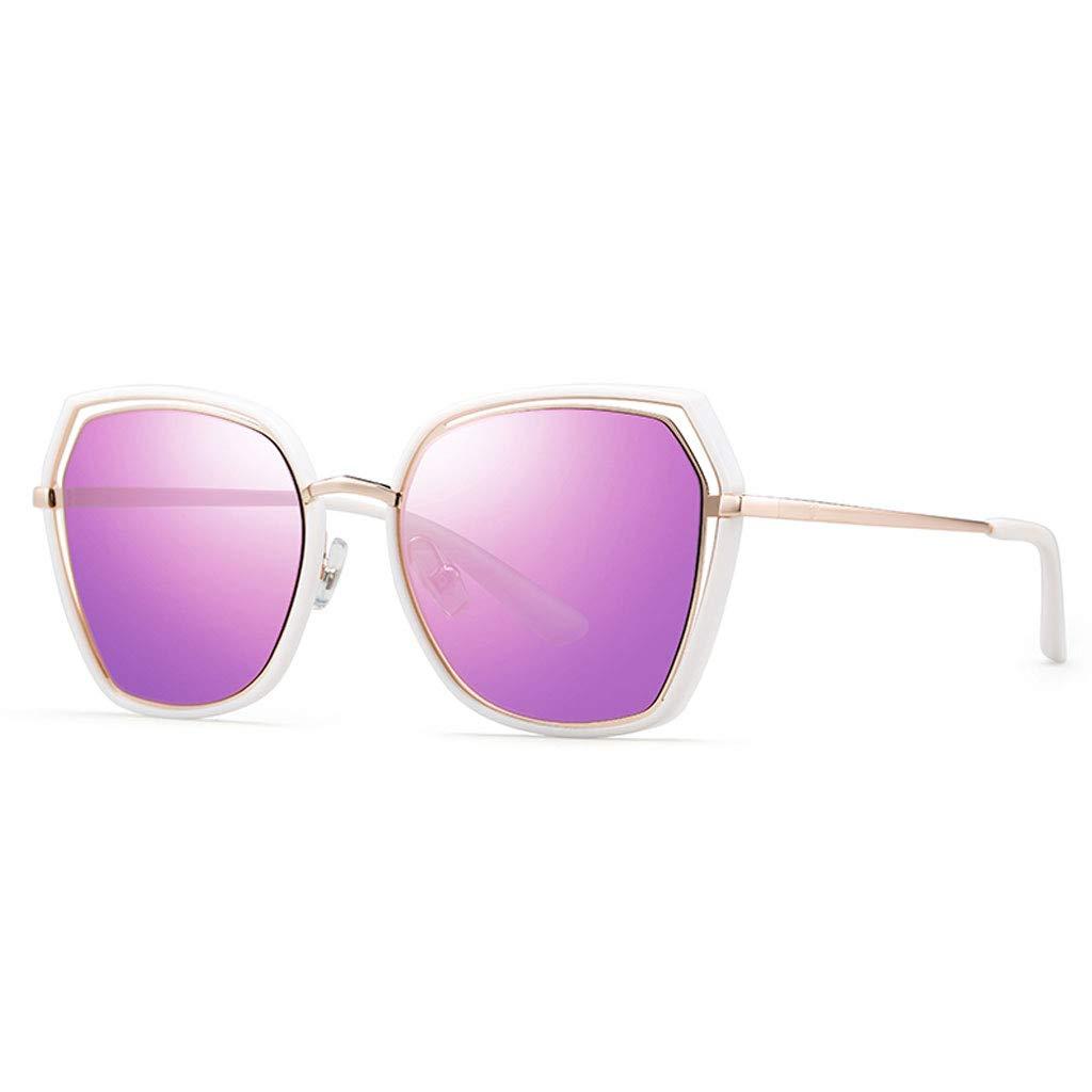 LZY レディサングラス- サングラス女性の潮メガネラウンドフェイス偏光サングラス女性 (色 : Lavender, サイズ さいず : 14.4x14.2x5.5cm) 14.4x14.2x5.5cm Lavender B07RHB5X31