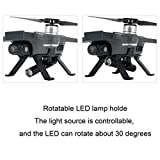 Appoi New Arrival RC Drone Night Flight Lights LED Light Landing Gear Rotate Lamp for DJI Spark RC Drone (As Shown)