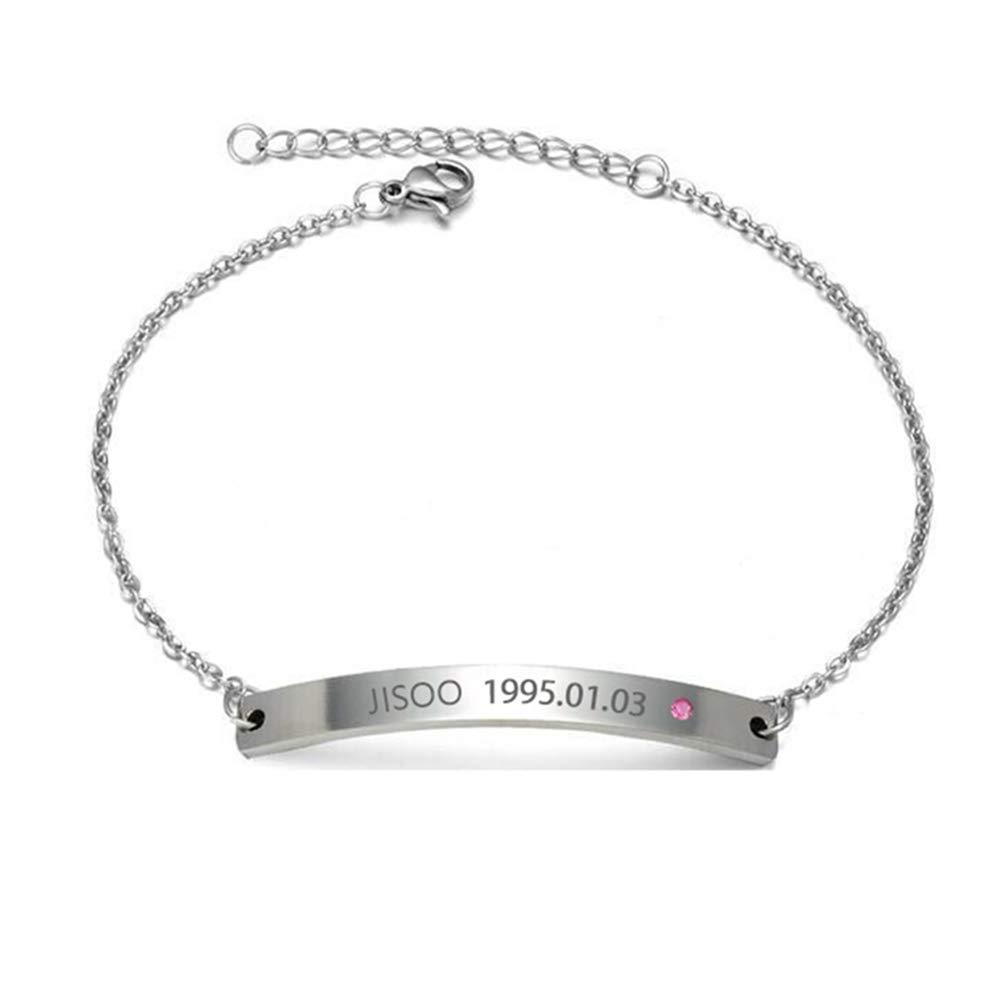 Kunandroc Kpop Blackpink Bracelet Wristband Jisoo Jennie Rose Lisa Signature Bracelet Adjustable Fashion Jewelry
