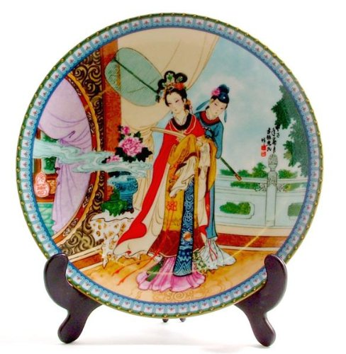 Imperial Jingdezhen Porcelain Beauties of the Red Mansion plate Yuan-Chun or Yuanchun by Zhao Huimin CP563 (Beauties Red Mansion)