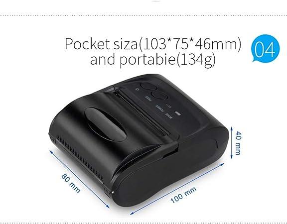 DZSF Mini Impresora portátil Bluetooth Impresora térmica inalámbrica de recibo de 58 mm para Android iOS Impresora instantánea inalámbrica para teléfono móvil: Amazon.es: Deportes y aire libre