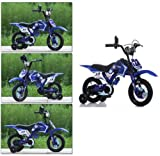 New Boys/Girls Kids/Children Moto Bike Bicycle With Stabilizer 12'' 16'' (12 inch wheel, Blue)