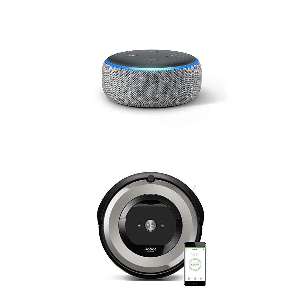 Echo Dot gris oscuro + iRobot Roomba e5154 - Robot Aspirador ...