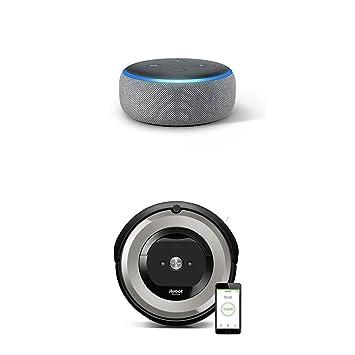 Echo Dot gris oscuro + iRobot Roomba e5154 - Robot Aspirador Óptimo ...
