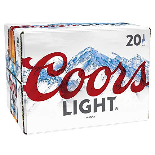 Coors Light Beer Bottles, 330 ml, Pack of 20